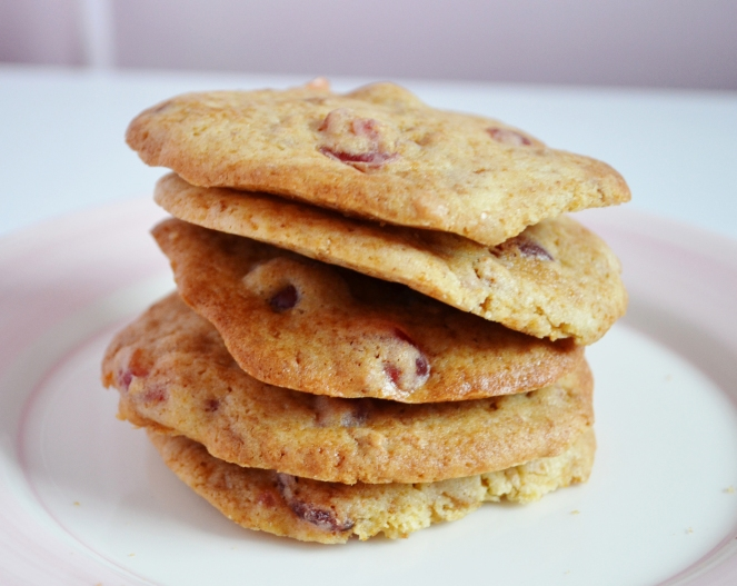 Cherry and amaretti cookies