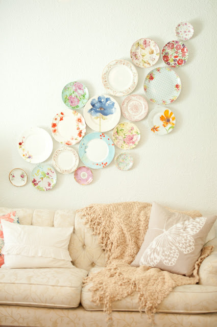Decorating with Plates-6 - domestic fashionista