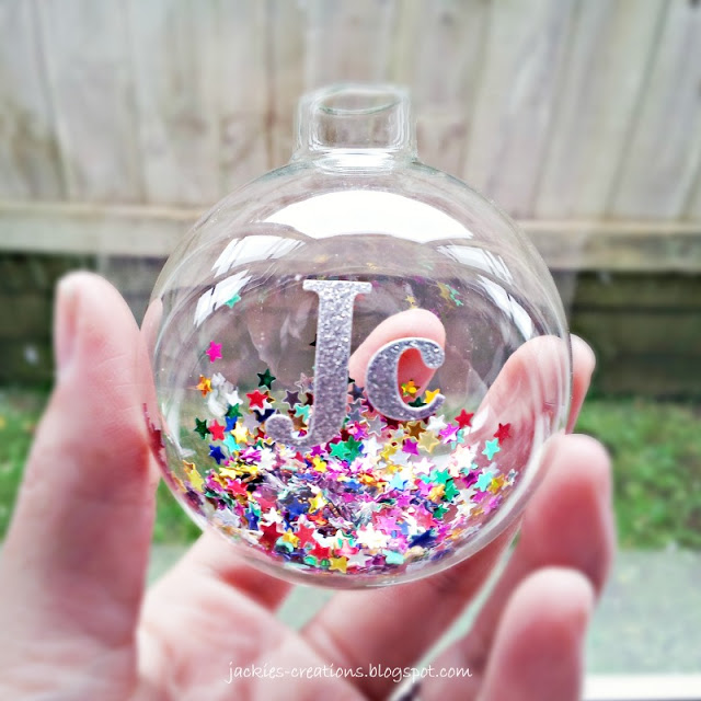 personalised starry bauble