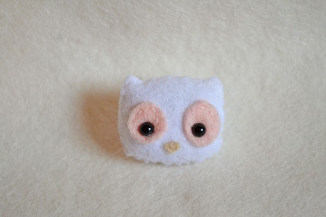 white owl brooch