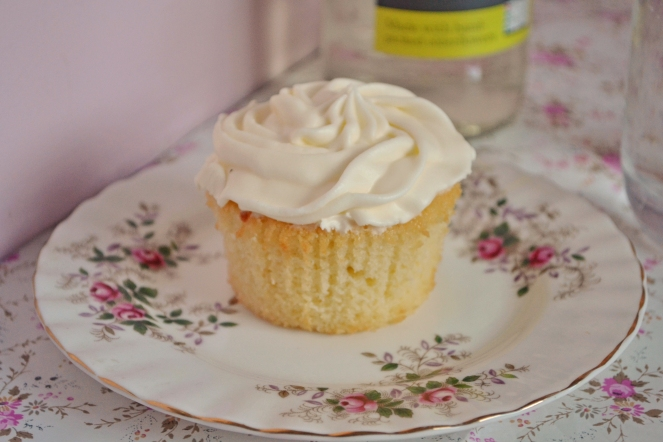 elderflower cupcake