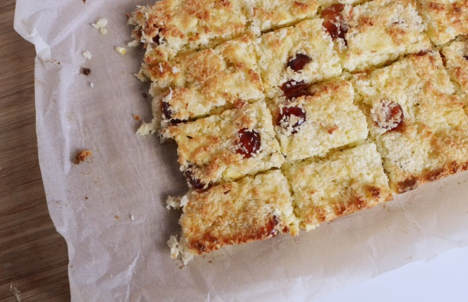 Coconut, Choc and Cherry Traybake