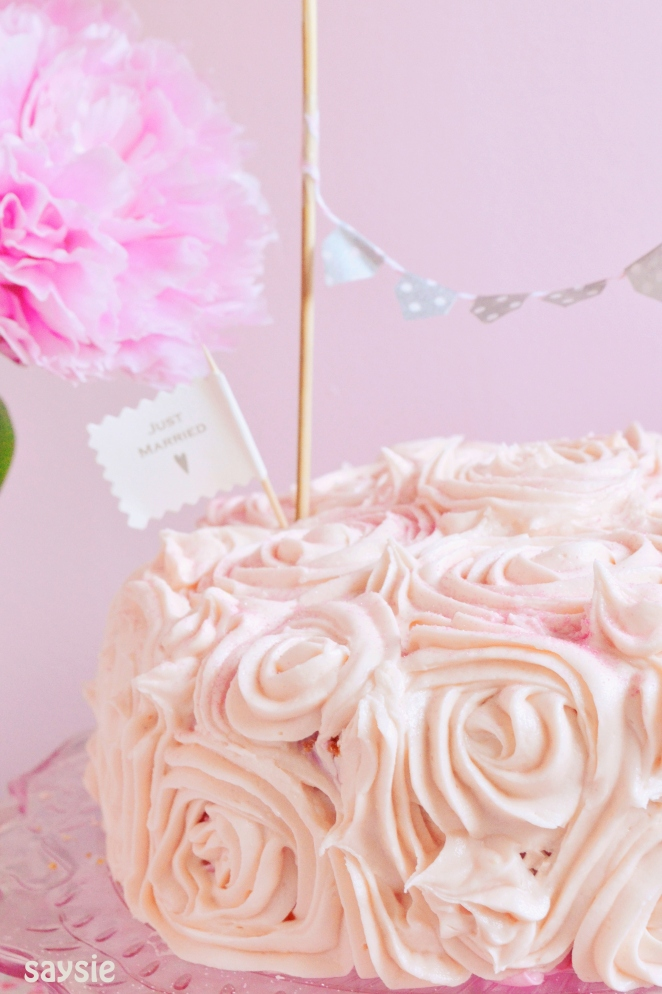 Anniversary cake side