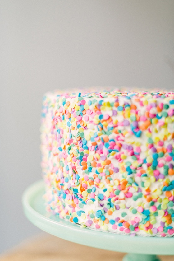Fun with sprinkles: cake