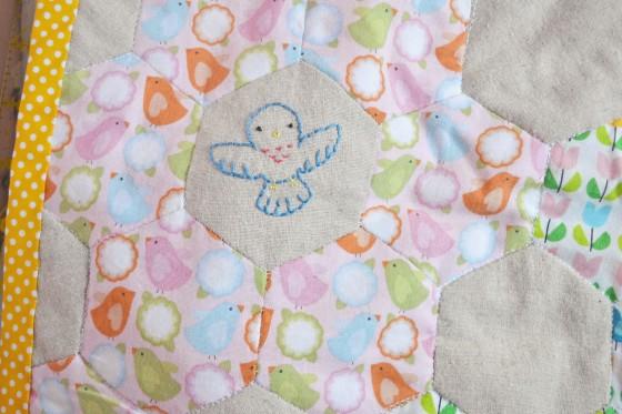 Spring Stitching - Blue bird