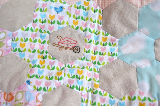 Spring Stitching - Wheel Barrow