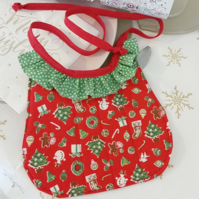 Frilly Christmas bib