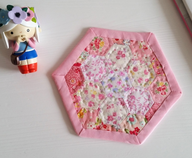 Happy Hexies Floral Coaster