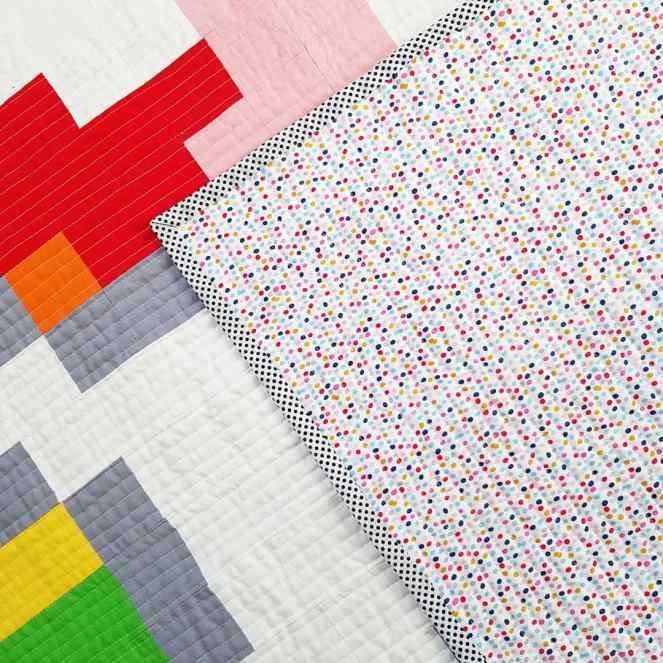 Pixelated Unicorn Quilt