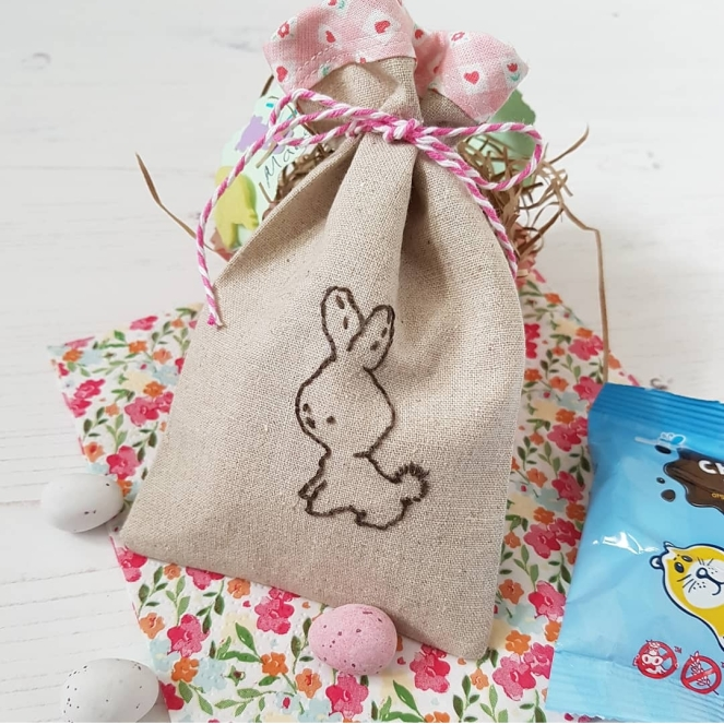 Little bunny treat bag