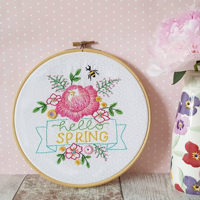 Hello Spring embroidery