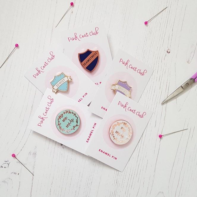 Pink Coat Club Enamel pins