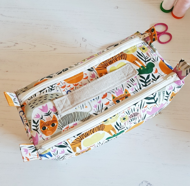 Double Zipped Box Pouch