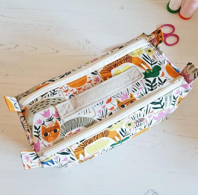 Double Zipped Box Pouch