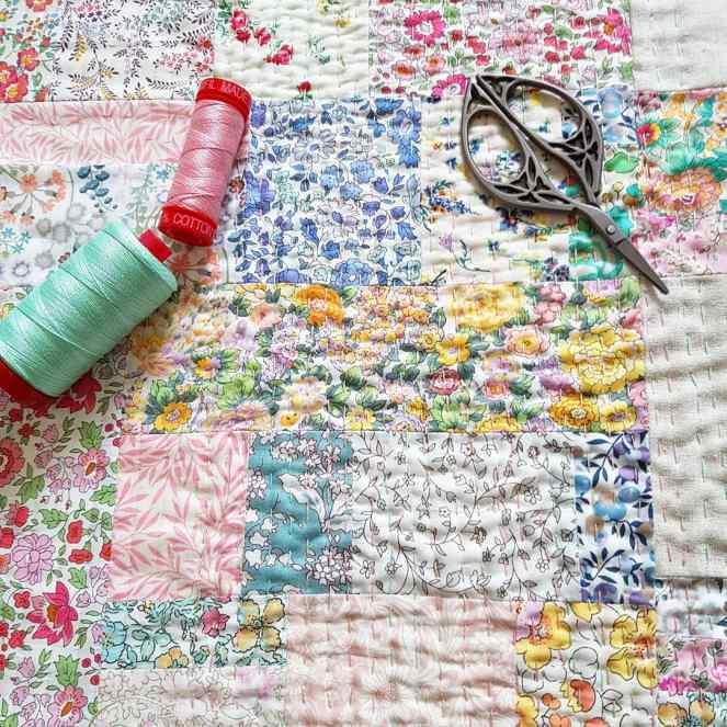 Liberty Kantha Stitching