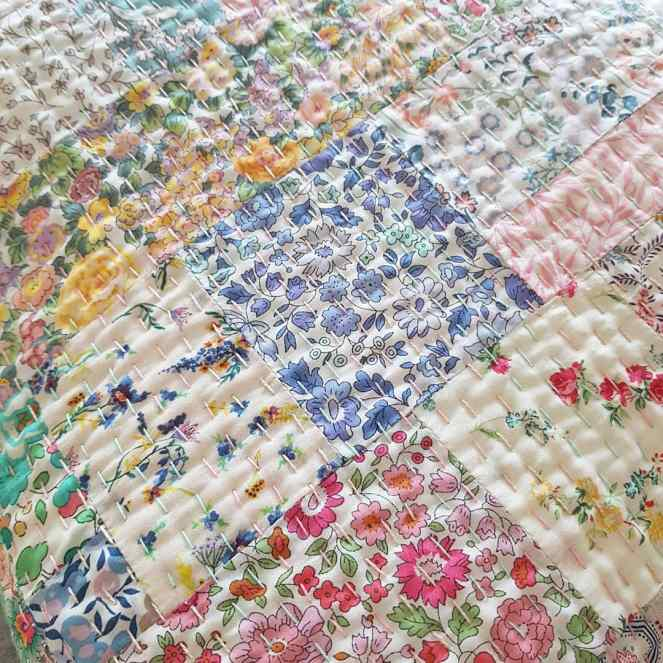 Liberty Kantha Stitching