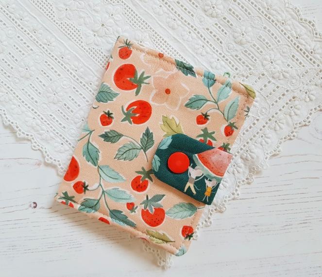 Kalina Wallet - Apple Green Cottage Pattern