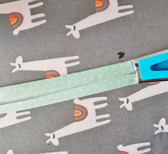 Making bias binding with a Clover tape maker