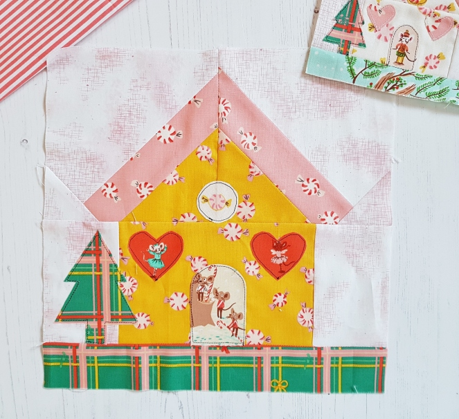 Gingerbread House Patchwork Blocks