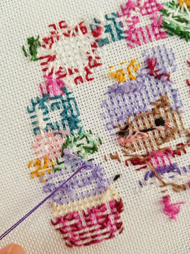 How to keep the back of your cross stitch neat