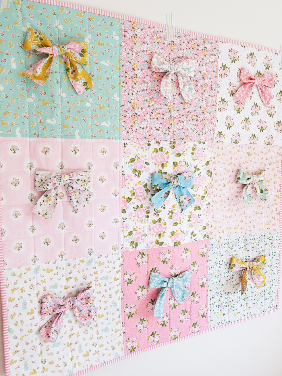 Milk and Honey - Baby Bow Quilt