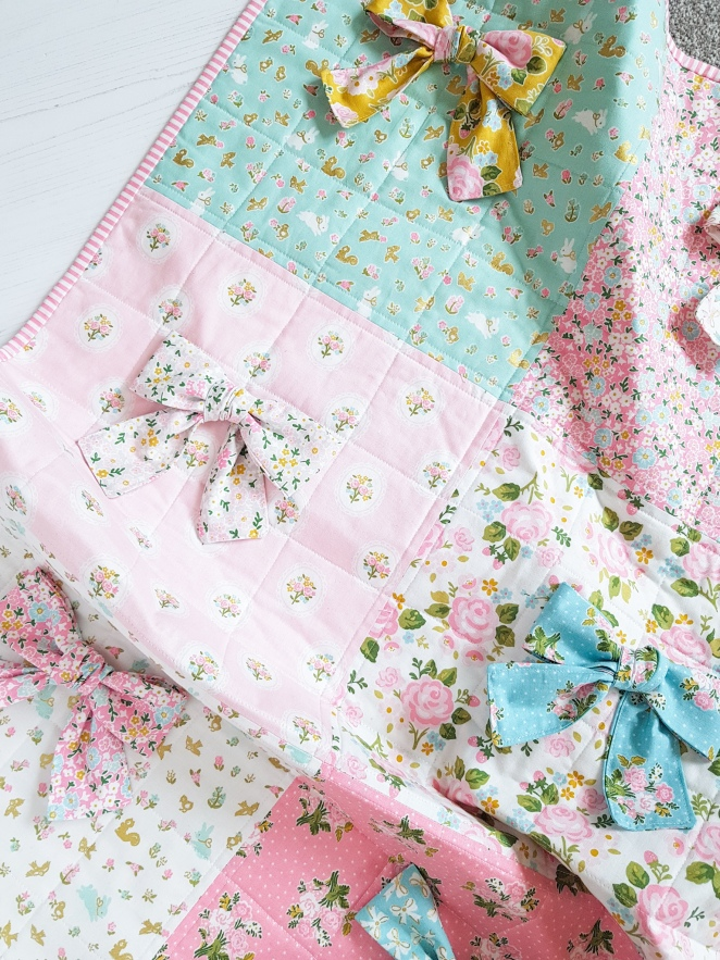 Milk and Honey Fabric - Baby Bow Quilt