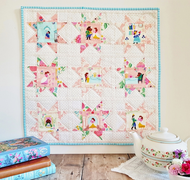 Beauty and the Beast - Saw Tooth Star Mini Quilt