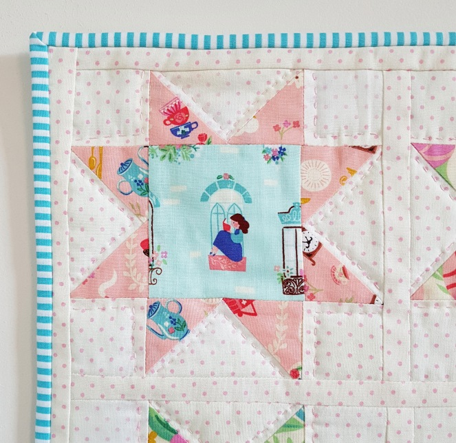 Beauty and the Beast - Sawtooth Star Mini Quilt