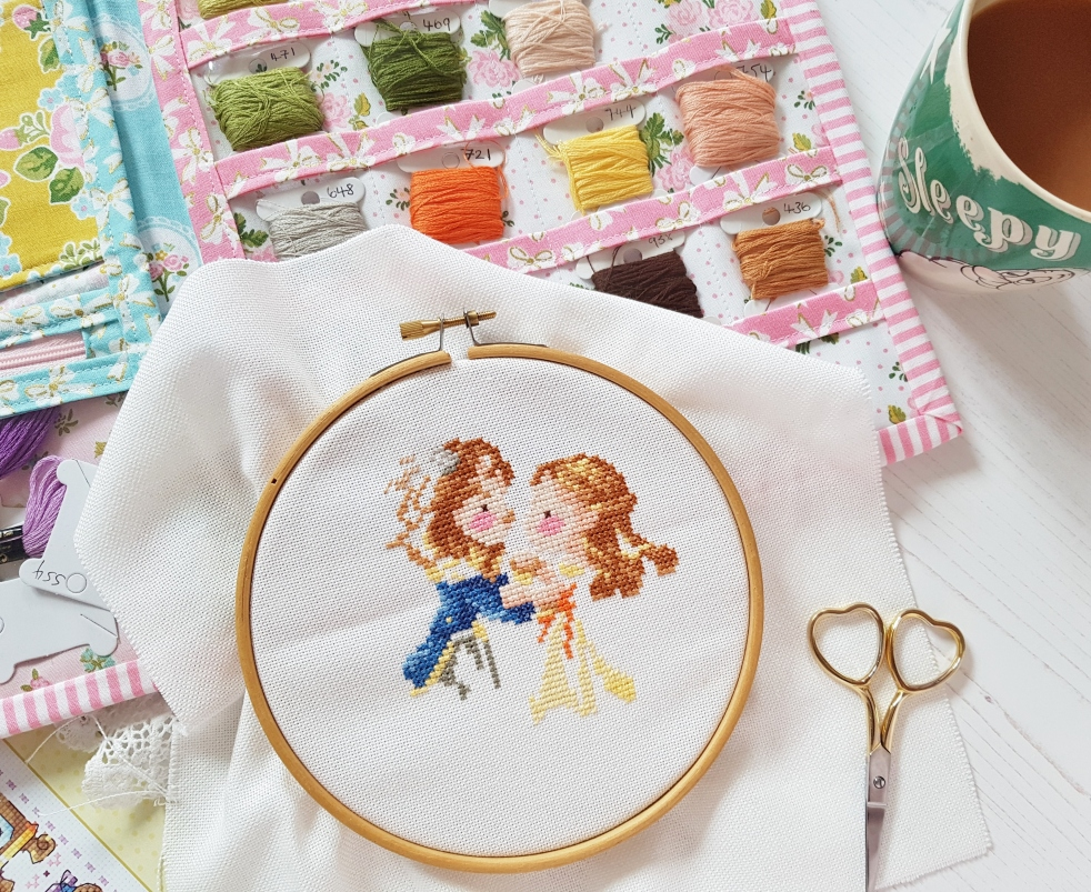 Slow stitching - Beauty and the Beast